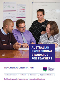 Australian Professional Standards for Teachers cover